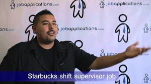 starbucks interview shift supervisor youtube