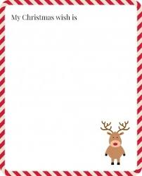 free printable children can use to write their christmas wishes