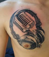 27 microphone and headphone tattoos