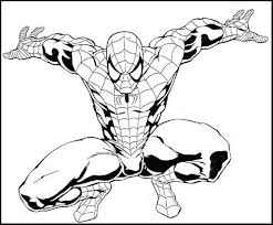 57 spiderman images coloring pictures kids