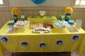yellow baby shower ideas blue and yellow baby shower party ideas photo 2 of 17 catch my
