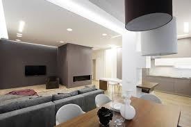 Living Room Lighting Apartment Apartment Dining Room Full Of Lights Apartment By Azovskiy