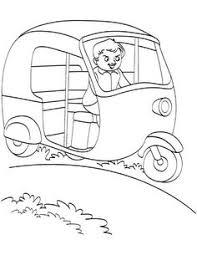 printable auto rickshaw coloring page preschool activities