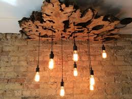 Wooden Chandeliers Handmade Large Live Edge Olive Wood Chandelier Rustic And