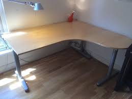 corner desk ikea uk ikea galant high quality corner desk steel frame and t legs