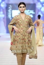 latest designs pakistani fashion short frocks with capris 2017