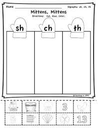 winter digraphs activities bundle sh th ch wh 1st grades