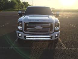 f250 led light bar bumper brackets for dual curved 40 led light bars 11 16 ford