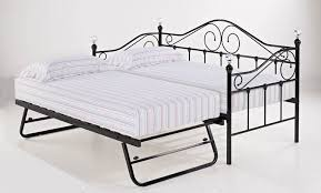 Black Daybed With Trundle Triple Trundle Bunk Beds Home U003e Florence Black Single Day Bed