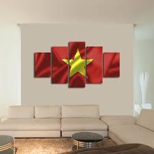 Viet Nam Flag Vietnam Flag Multi Panel Canvas Wall Art Elephantstock
