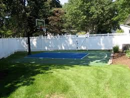 Backyard Pool And Basketball Court Awesome Outdoor Basketball Court Designing Tips With Red And Grey