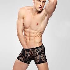 men s sexy men underwear boxers lace underwear transparent male