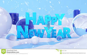happy new year winter landscape 3d stock photo image 62477264