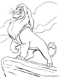 king mufasa kids lion king5cf8 coloring pages printable