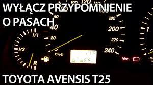 lexus is220d vsc light reset jak wyłączyć przypomnienie o niezapiętych pasach w toyota avensis