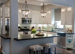 Large Kitchen Lights by Kitchen Lighting 3 Lights Pendant Lamp With Clear Glass Shade