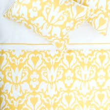 mustard yellow linen duvet cover from cb2 bedroom inspiration and