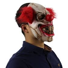 it clown halloween mask deluxe scary clown mask men latex with red hair halloween