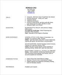 fashion resume templates retail cv template sales environment