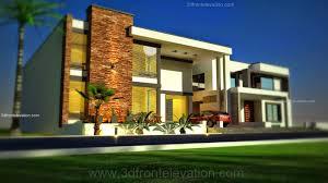 3d front elevation com 1 kanal modern simple elegant house