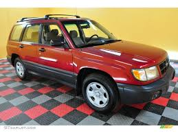 red subaru forester 1998 rio red subaru forester l 20804161 gtcarlot com car