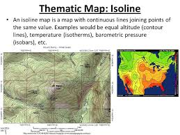 isoline map definition warm up what do you think is the title of this map ppt