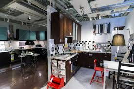 kitchen furniture stores kitchen in the furniture store ikea stock photo picture and living