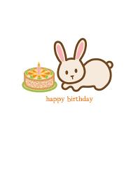 rabbit birthday rabbit birthday card wanart