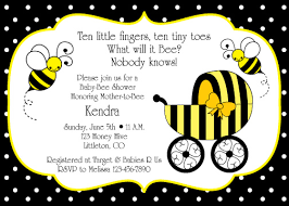 bumble bee baby shower theme i like the saying at the top bumble bee baby shower invitation