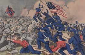 Civil War Battle Flag African American Soldiers At The Battle Of Fort Wagner 1863
