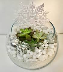 holiday centerpiece with removable snowflake paint nite event
