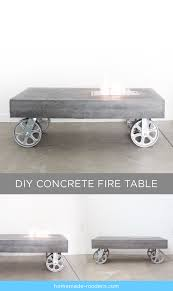 homemade modern ep84 concrete fire table