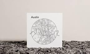 Austin Map by Austin Map Map Print U2014 Archie U0027s Press