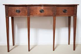 Entryway Table Federal Cherry Serpentine Entryway Table By James Huggett Wood