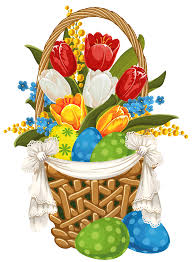 painted easter baskets painted easter basket with easter eggs png clipart gallery