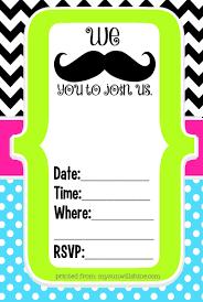 invitations for 13th birthday party mustache birthday invitations ideas u2013 bagvania free printable