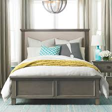 bassett bedroom furniture upholstered bed driftwood finish bassett home furnishings