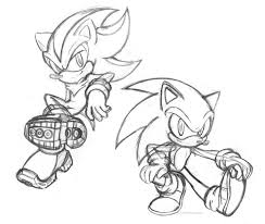 sonic and shadow coloring pages sonic and shadow doodles by chibi jen hen on deviantart