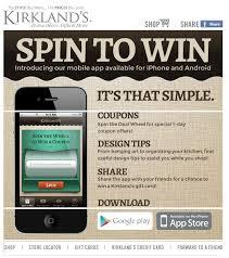 Kirkland Home Decor Coupons Kirkland U0027s Free App Features Spin U0026 Win Coupon Game Al Com