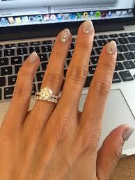 gel design for wedding lavender nails with ombré white tips