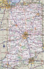Interstate Map Of United States by Large Detailed Roads And Highways Map Of Indiana State With Cities