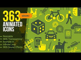 363 animated icons after effects template popular after