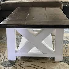 How To Build A Farmhouse Table Diy Chunky Farmhouse Coffee Table Diy Woodworking Plans