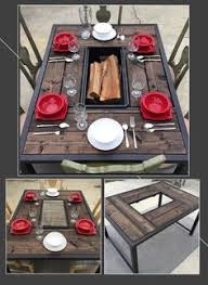 fire pit grill table combo korean bbq table grill outdoor kitchen and living pinterest