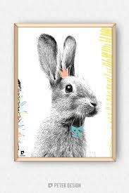 nursery bunny poster rabbit poster animal illustration