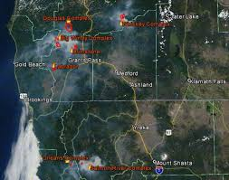 map of oregon smoke fires and smoke across northern california lost coast outpost