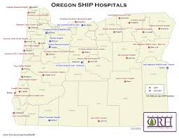 map of oregon 2 rural hospitals oregon office of rural health ohsu