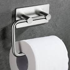 strong man toilet paper holder amazon com kabter toilet paper holder wall mount 3m self adhesive