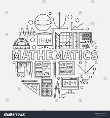 Floor Math by Mathematics Round Illustration Vector Math Algebra Stock Vector