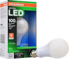sylvania ultra 100w led light bulb dimmable daylight 5000k 25